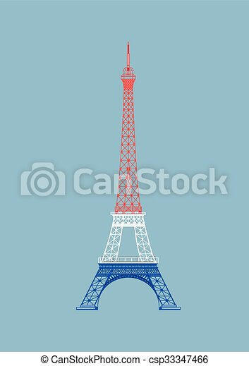 Vector Paris Eiffel Tower With Nice Color