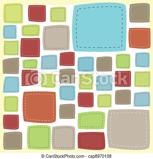 Vector patch frame background - csp8970108