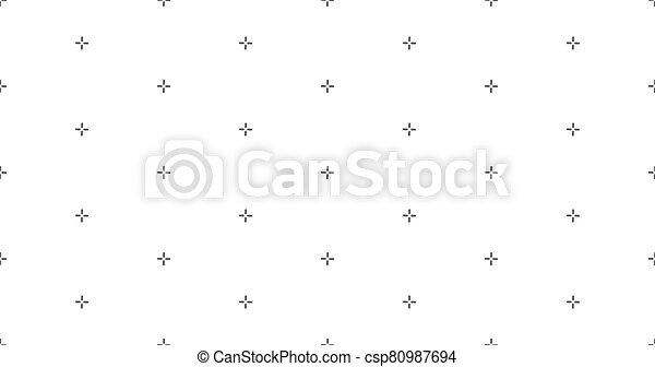 vector, patrón, seamless, puntería, más, fondo., ilustración, acción, patern., geométrico, cruz, stich - csp80987694
