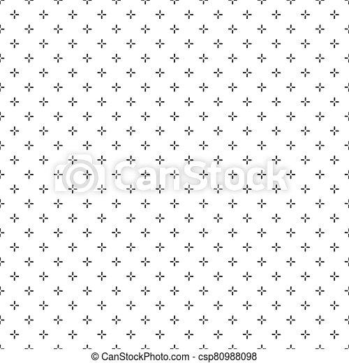 vector, patrón, seamless, puntería, más, fondo., ilustración, acción, patern., geométrico, cruz, stich - csp80988098