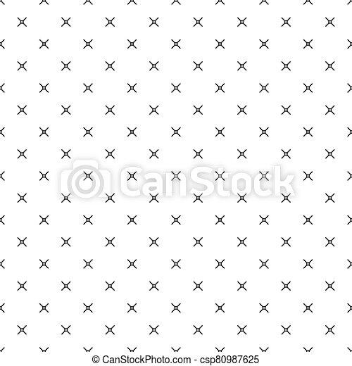 vector, patrón, seamless, puntería, más, fondo., ilustración, acción, patern., geométrico, cruz, stich - csp80987625