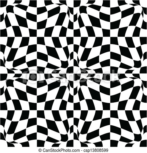 Vector pattern in black and white - csp13808599