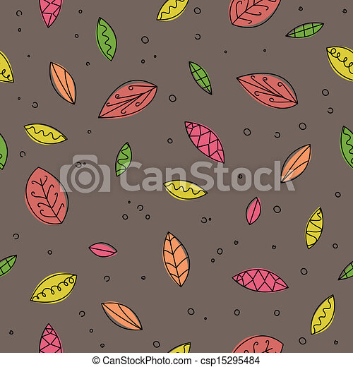 Vector Pattern with Leafs - csp15295484