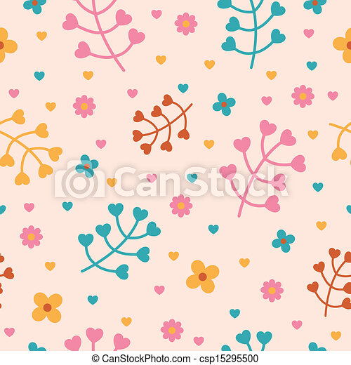 Vector Pattern with Nature Elements - csp15295500