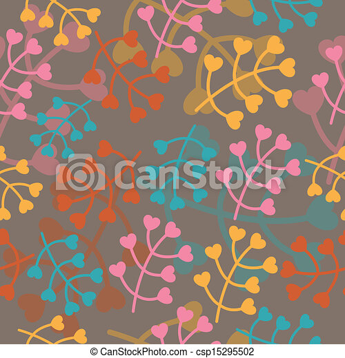 Vector Pattern with Nature Elements - csp15295502