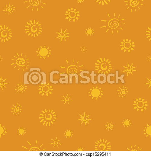 Vector Pattern with Sun Icons - csp15295411