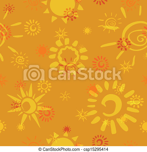 Vector Pattern with Sun Icons - csp15295414
