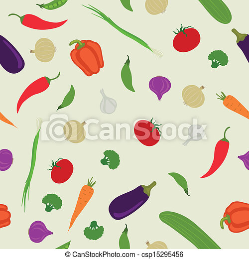 Vector Pattern with Vegetables - csp15295456