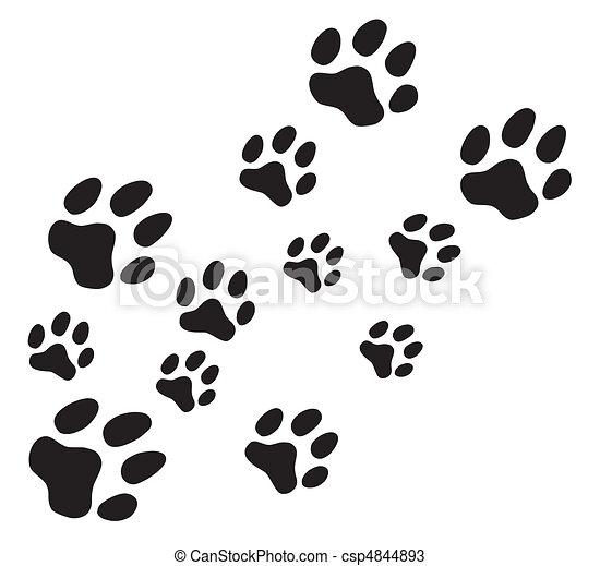 Vector paw prints - csp4844893