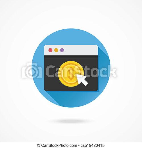 Vector Pay Per Click Icon - csp19420415
