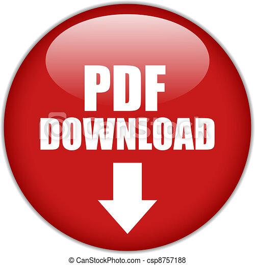 Vector pdf download button - csp8757188