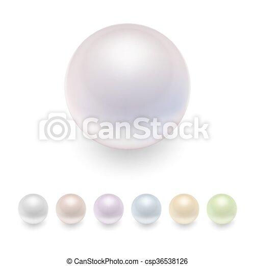 Vector pearls set. - csp36538126