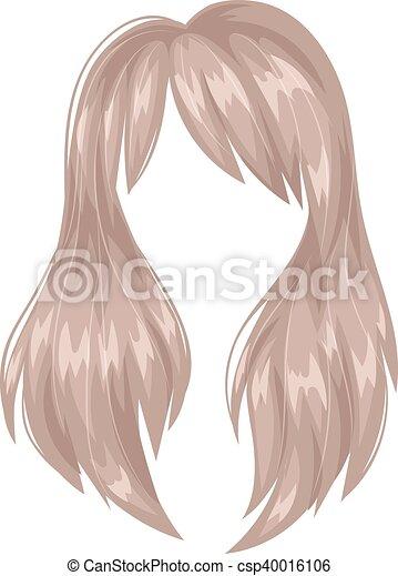 Vector Peinado Mujer Silueta Hermoso Marron Peinado Mujer