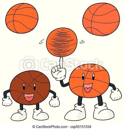 Un juego de dibujos animados de baloncesto - csp55151034
