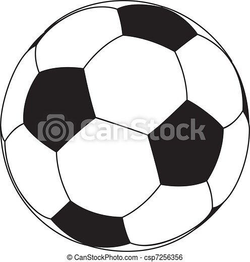 Una pelota de fútbol - csp7256356