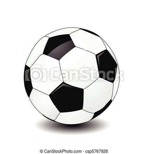 Una pelota de fútbol - csp5767928