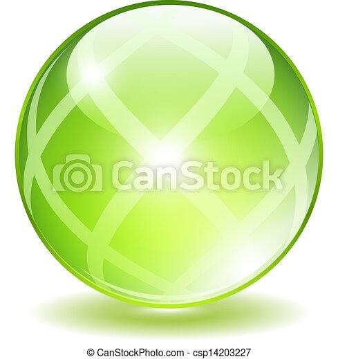 Vector bola verde - csp14203227