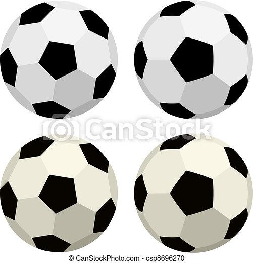 Bolas de vector de fútbol - csp8696270