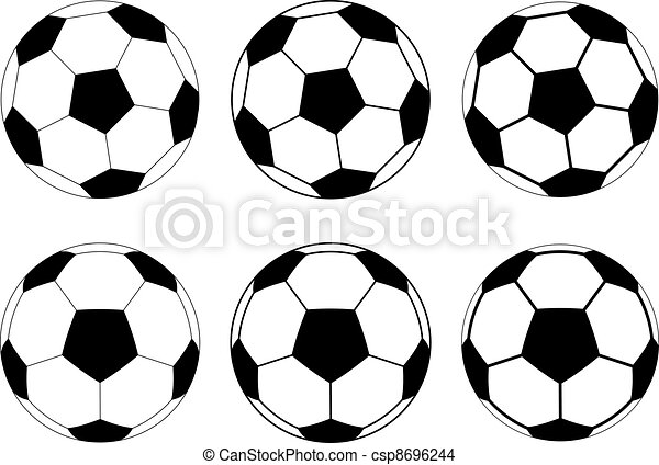 Bolas de vector de fútbol - csp8696244