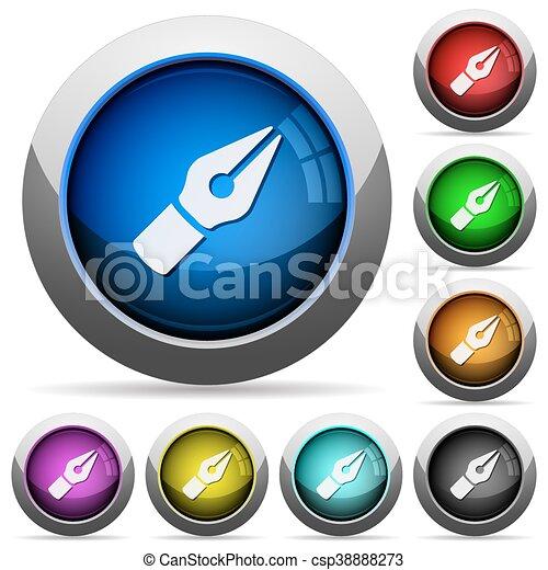 Vector pen button set - csp38888273