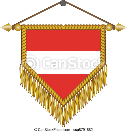vector pennant with the flag of Austria - csp8791882