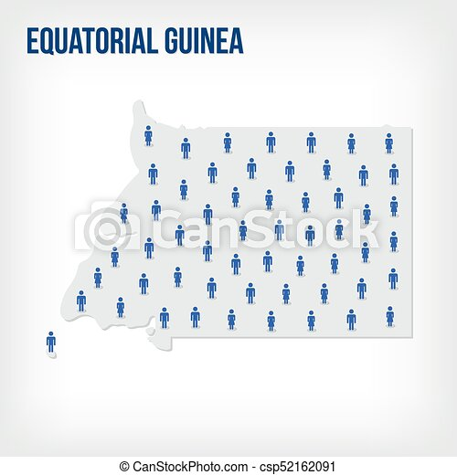 Vector people map of Equatorial Guinea . The concept of population. - csp52162091