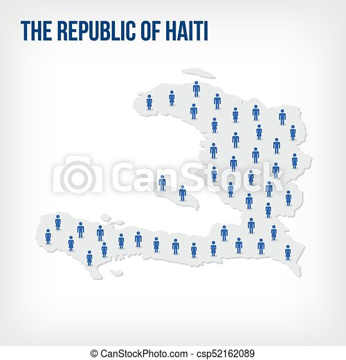 Vector people map of The Republic of Haiti. The concept of population. - csp52162089
