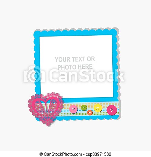 40669c4856a4 Vector photo frame. Design photo frame on nice background ...