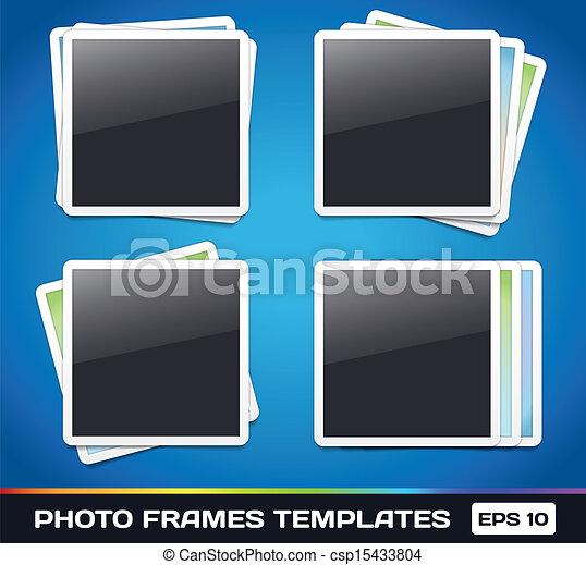 Vector Photo Frames Gallery - csp15433804