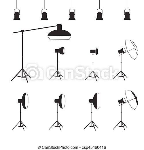 vector photographer studio lighting equipment icon https www canstockphoto com vector photographer studio lighting 45460416 html