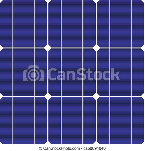 vector photovoltaic seamless pattern - csp8694846