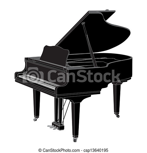 vector Piano - csp13640195