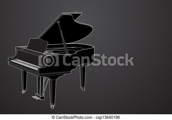 vector Piano - csp13640196
