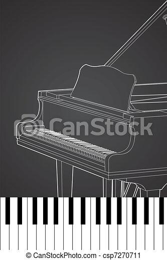 vector Piano - csp7270711