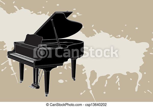 vector Piano - csp13640202