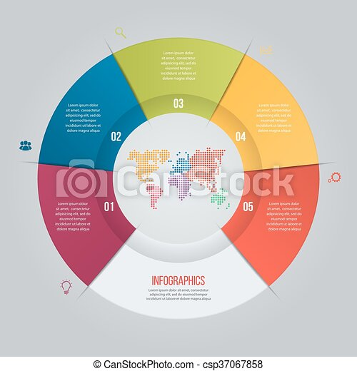 Vector Pie Chart Template For Graphs Charts Diagrams Business