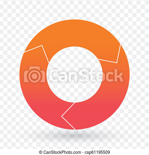 Vector pie chart template for graphs, charts, diagrams  Business circle  infographic concept with 3 options, parts, steps, processes