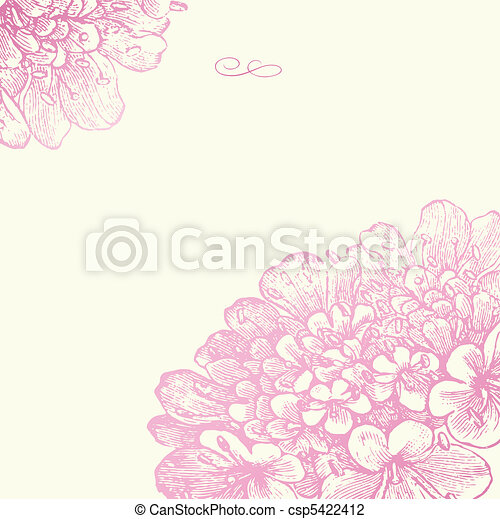 Vector Pink Floral Square Frame - csp5422412