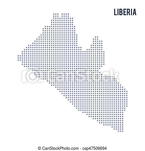 Vector pixel map of liberia isolated on white background travel vector pixel map of liberia isolated on white background freerunsca Gallery