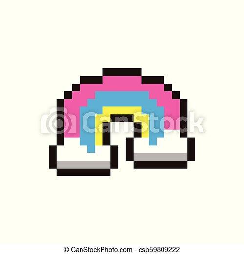 Vector pixel rainbow