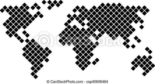 Vector pixel world map pixel world map vector illustration for vector pixel world map gumiabroncs Choice Image