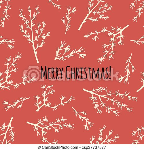 vector., plakat, jul, retro, merry, eller, card - csp37737577