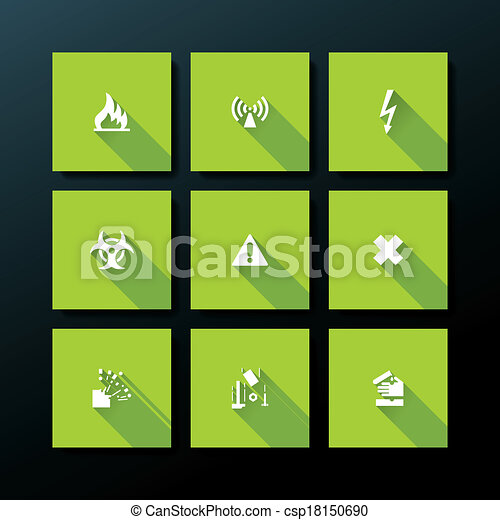 Icono de advertencia plana Vector - csp18150690