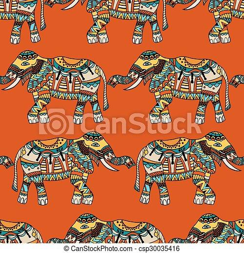 Vector Plano De Fondo Elefantes Modelado Elefantes Indios
