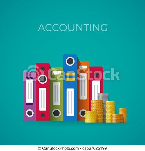 Concepto de contabilidad Vector al estilo plano - csp67625199