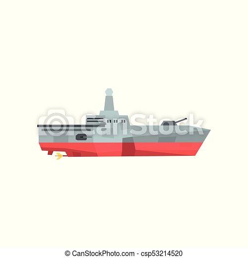 Vector, plano, peligroso, elemento, coloreado, crucero, cañón, o ...