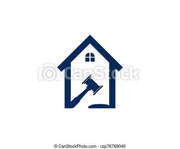 vector, plantilla, oficina, ley, logotipo - csp76769049