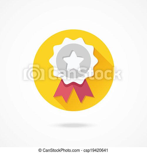 El icono de premio Vector Silver - csp19420641