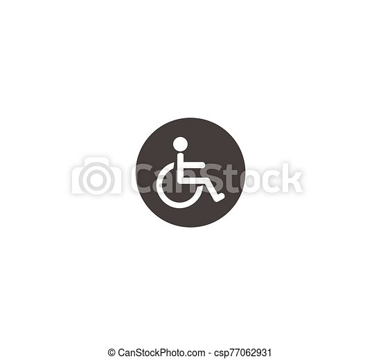 Vector plate for disabled toilet. disabled lounge - csp77062931