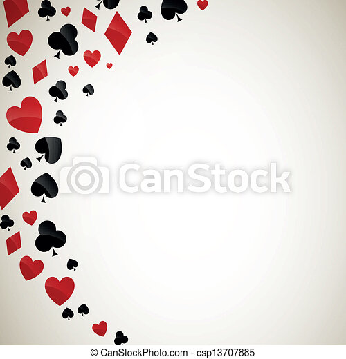 Vector Playing Card Suits - csp13707885